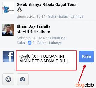 Cara membuat komentar dan status biru di Facebook