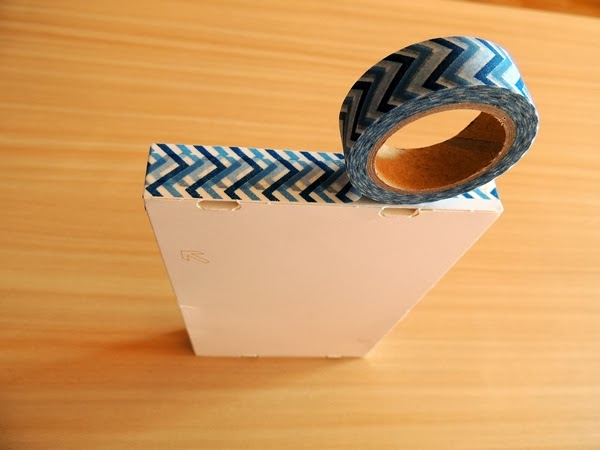 Box mit Washi Tape verzieren