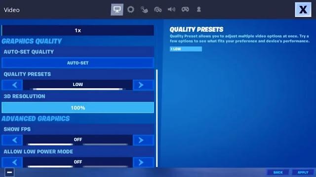 Fortnite Mobil için En İyi FPS ve Grafik ayarları!