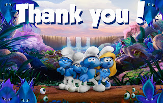 free smurfs thank you cards