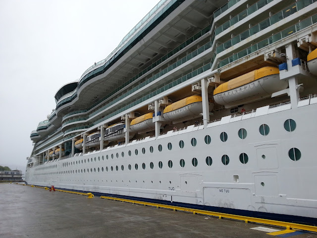 Royal Caribbean cruise ship Serenade of the Seas in Bergen, Norway on a fjord cruise