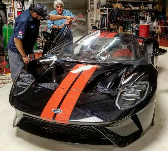 Leno Appears To Have Ordered A Shadow Black Car With Competition Orange Stripes This Time Adding A Matching Black And Orange Launch Control Interior And A
