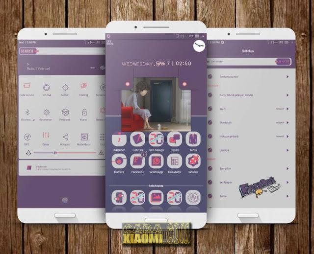 MIUI Thema Eirn Purple Mtz Terbaru Support For Xiaomi V9 Theme by Erin