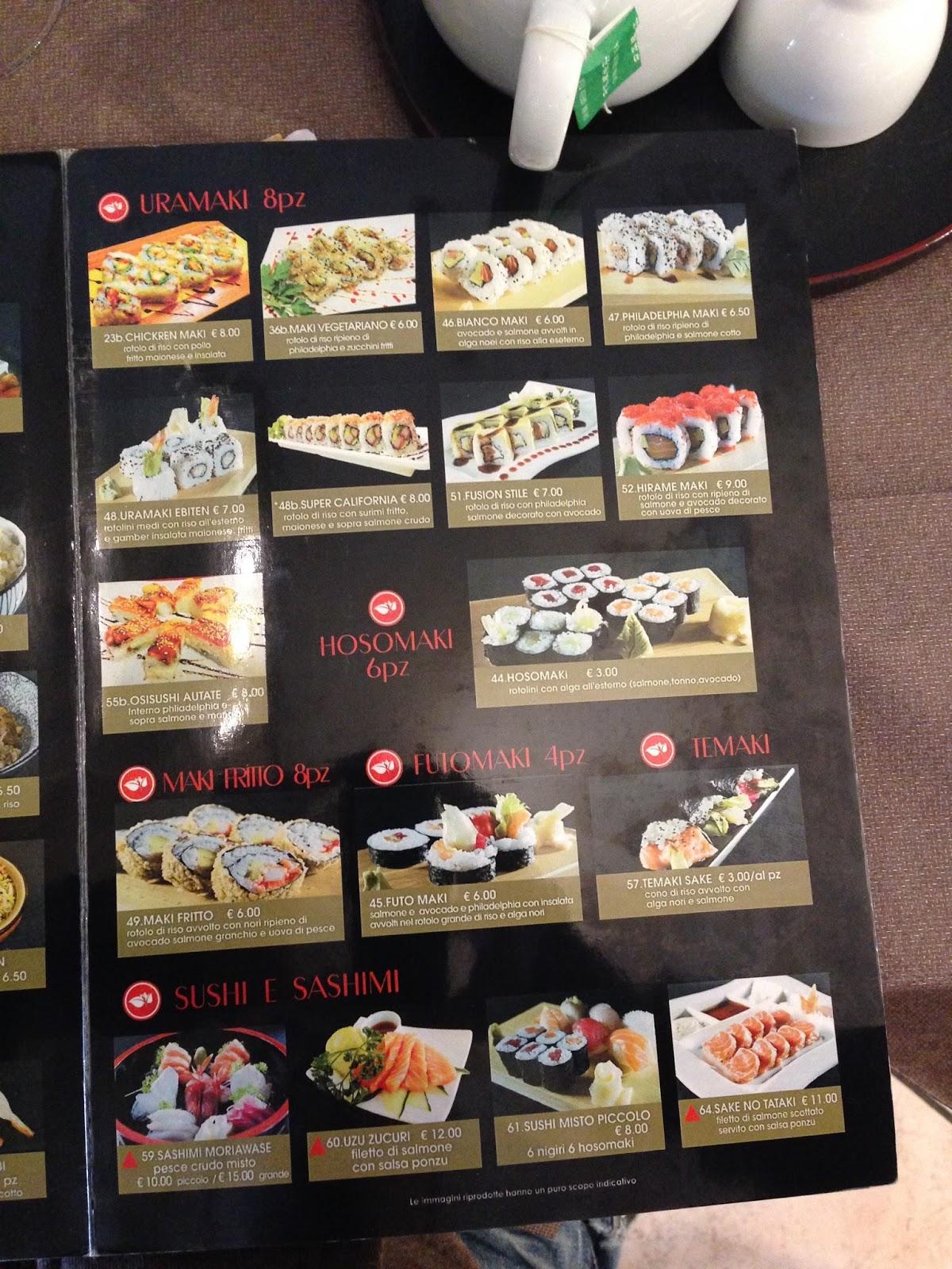 Menu e prezzi ristorante giapponese porta fortuna a - Foto porta fortuna ...