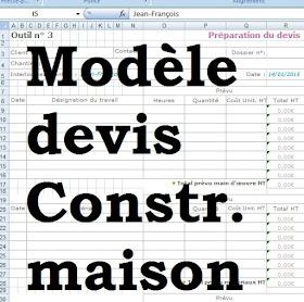 Modèle Devis Construction Maison Excel Cours Génie Civil
