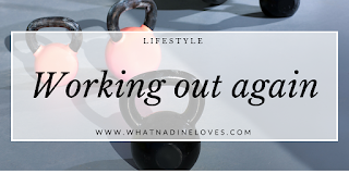 Working out again - How I am getting fit again and lose weight. // www.whatnadineloves.com