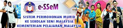 Kemasukan Ke Sekolah Seni Malaysia Terkini