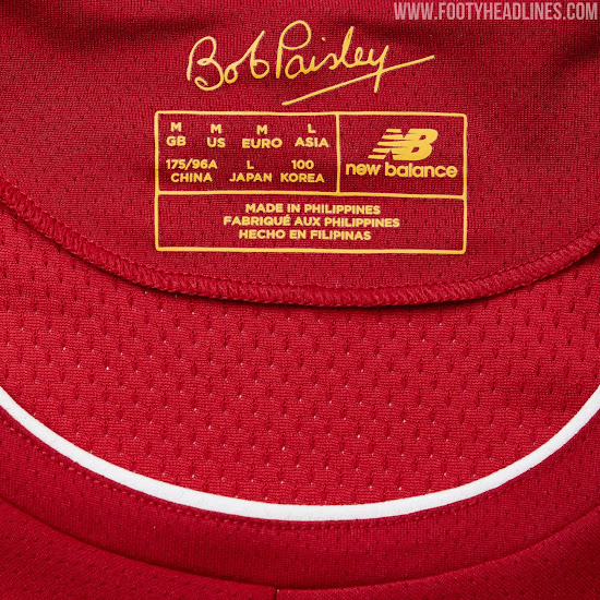 f37f3038ec2 Bob Paisley s signature is printed on the inside neck of Liverpool s 2019-20  jersey - the legendary manager would have turned 100 in January