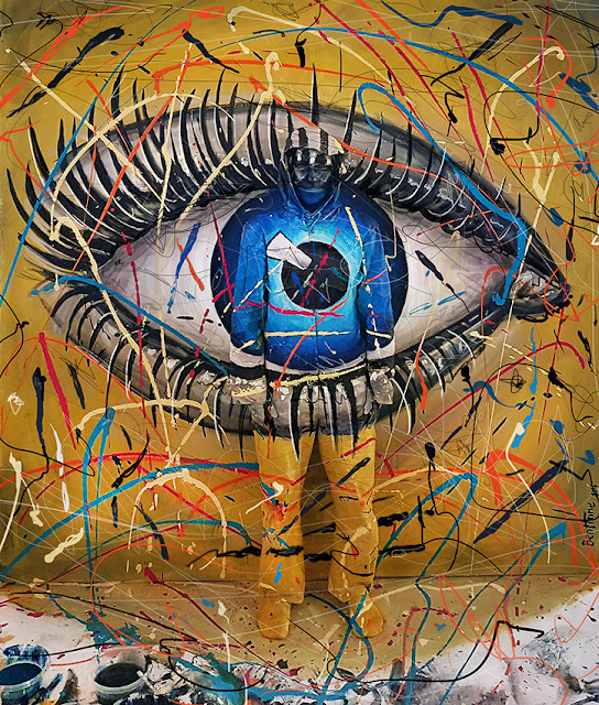 Ben Heine Art - Invisible - Flesh and Acrylic - BenHeineArt - Eye - Ankamall