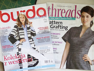 Burda 8/2015 i Threads August/September 2015 Issue Number 180 - co w środku?