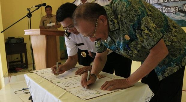 Bakamla RI-Pemkab Natuna Teken PKS Pembentukan Desa Maritim