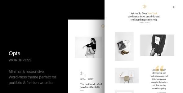 Opta Minimal Portfolio And Photography Responsive WordPress Themes