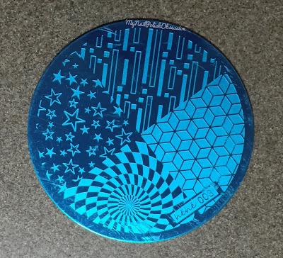 Cube Rectangle Circle Pentagram Nail Art Stamp Image Plate hehe003