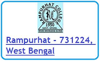Rampurhat College, Rampurhat - 731224, West Bengal
