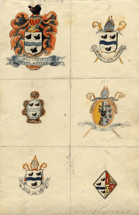 Armoiries de Brauwere et familles apparentées.