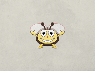 cute bee wallpaper