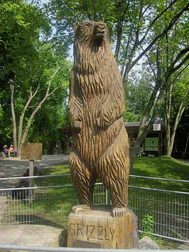Grizzly Wood Carving