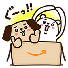 Amazon.co.jp's Pochi Stickers