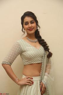 Raashi Khanan looks stunning in Crop Top Deep neck Choli Ghagra Transparent Chunni WOW ~  Exclusive Celebrities Galleries 133.JPG