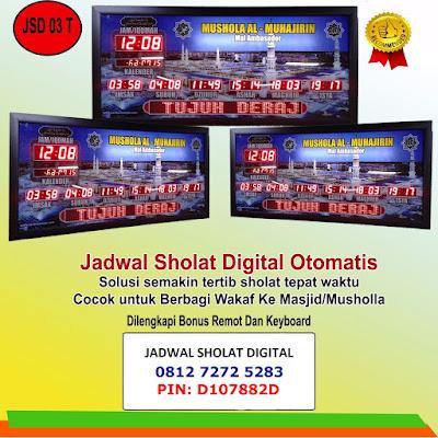 Alamat Toko Jam Jadwal Sholat Digital Masjid Di Bandar Lampung