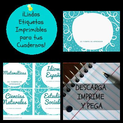 Visitanos y descarga estas lindas etiquetas para los cuadernos de tus hijos, imprimelas y listo!