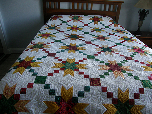 Jared takes a Wife Quilt by Dunster from Quilting Board, The Pattern by Bonnie K Hunter of QuiltVille