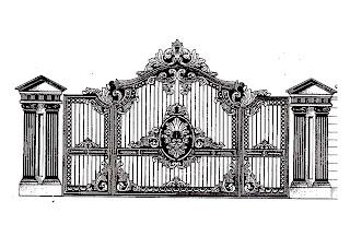 desain pagar besi tempa minimalis desain pagar rumah besi tempa