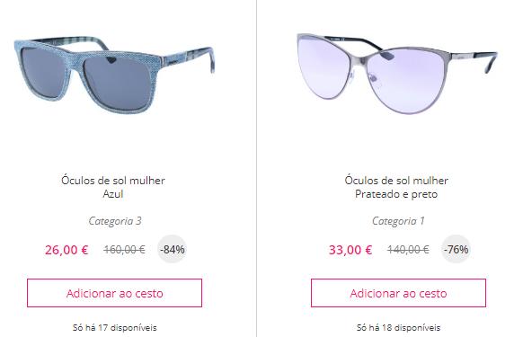 Saldos Online: Óculos de sol DIESEL para Homem e Mulher