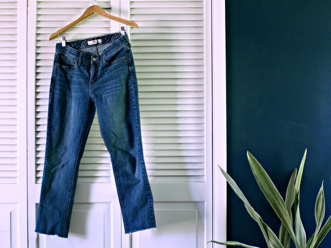 This Little Miggy || Paint Your Clothes Distressed Denim Edition