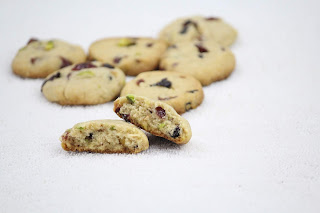 BERRY PISTACHIO COOKIES / WHOLE WHEAT BERRY COOKIES