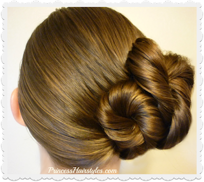 Easy updo hairstyle! Hair tutorial showing step by step instructions.