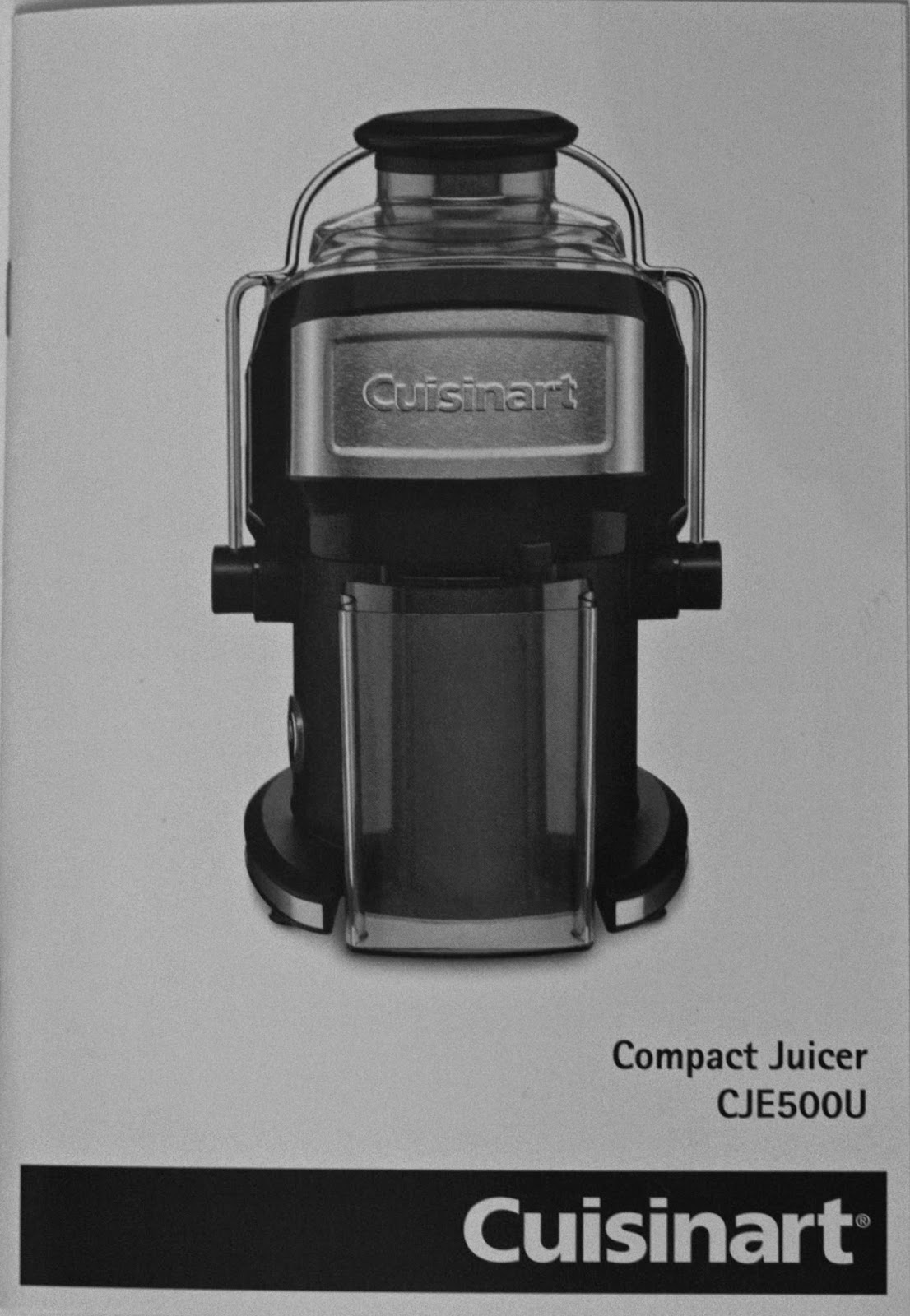 Cuisinart Compact Juicer Instructions