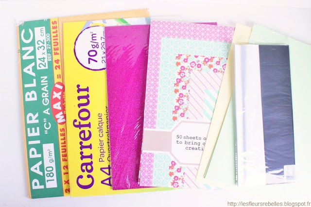 Blocs de papier imprimé, papier de soie, Canson