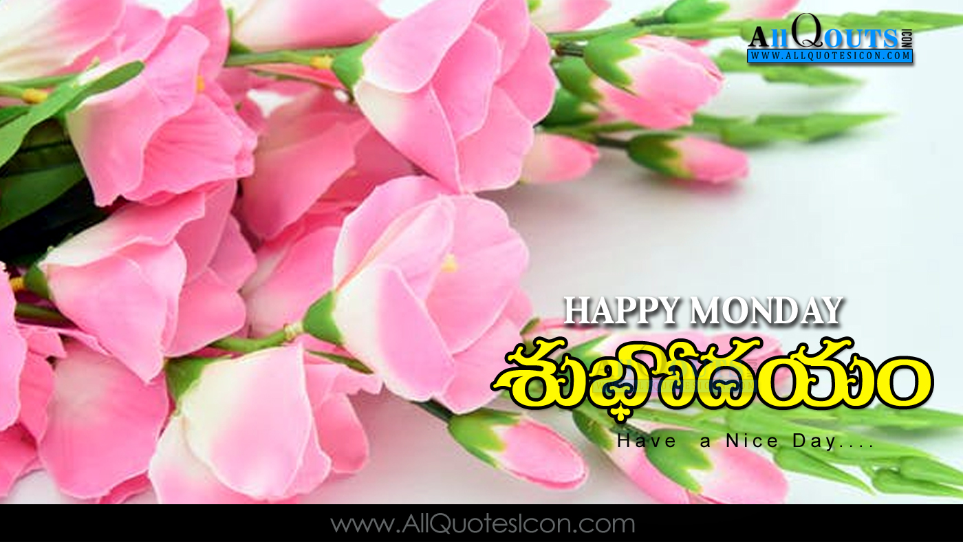 Happy Monday Images Good Morning Greetings Telugu Quotes Pictures
