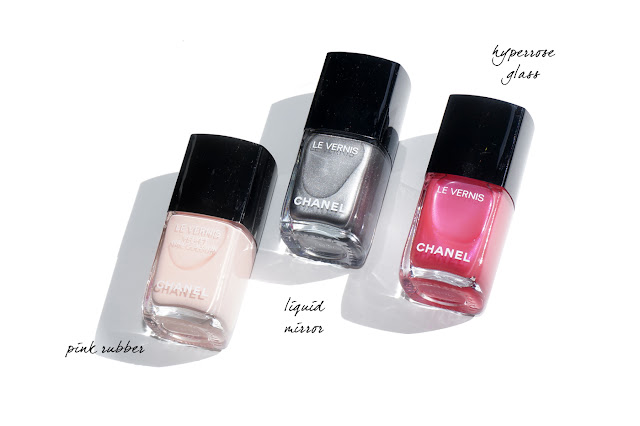 The Beauty Look Book - Chanel Velvet Nail Color Pink Rubber, Liquid Mirror and Hyperrose Glass