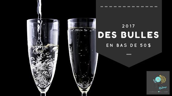 2017- Des bulles en bas de 50$