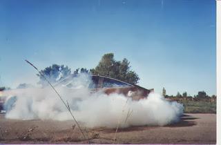 smokey burnout sunbird V8 cool cars