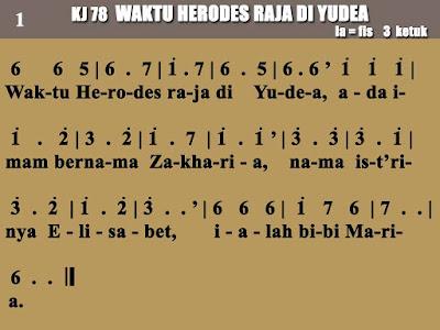 Lirik dan Not Kidung Jemaat 78 Waktu Herodes Raja Di Yudea