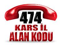 0474 Kars telefon alan kodu