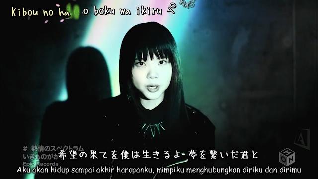 [PV] Ikimono Gakari - Netsujou no Spectrum + Efek Kara_sy-subkara.blogspot.com