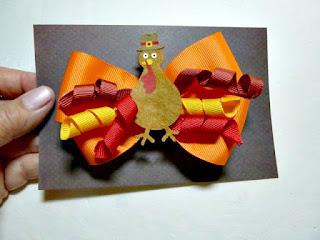 Turkey hair bow