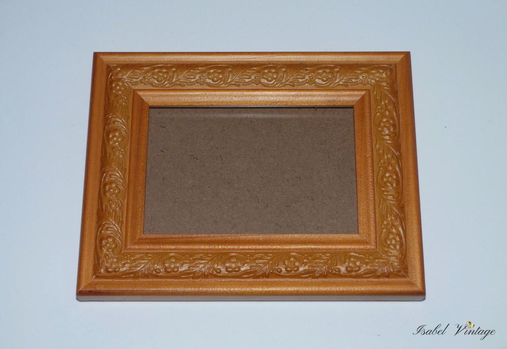 Marco de fotos de madera con efecto metalico isabel vintage - Marcos fotos madera ...
