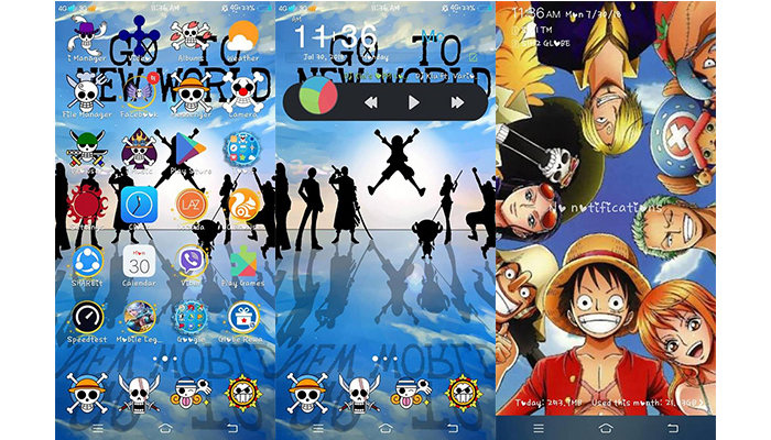 One Piece Theme For Vivo Android Smartphones