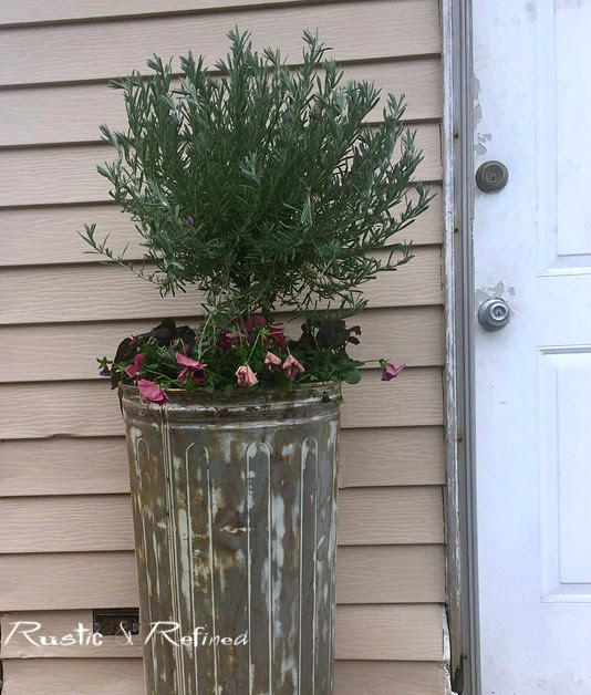 Rusty container gardens