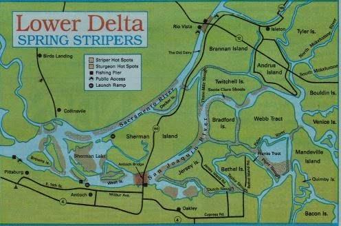 Fishing california and 2017 fishing maps fishing report for Sacramento river fishing spots