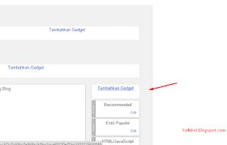 Menambahkan widget html / javascript