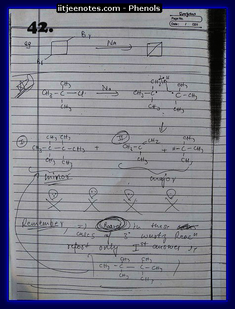 Phenol Notes IITJEE 11