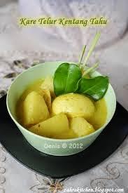 Resep Kare Tahu, Telur dan Kentang