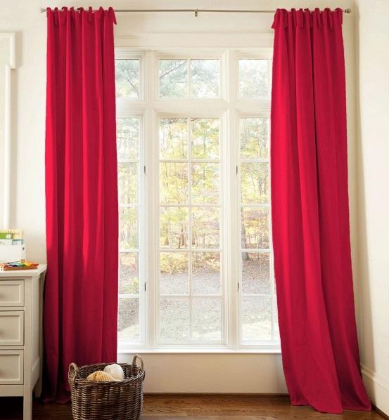 rideau rouge pour votre maison rideaux et voilages. Black Bedroom Furniture Sets. Home Design Ideas