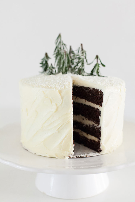 How to decorate a winter cake by Matchbox KItchen via Freutcake